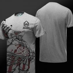 Quality Overwatch Roadhog Tshirt Men Gray Tee