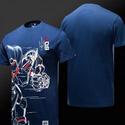 Cool Overwatch Reinhardt Tshirts Mens Blue Shirt