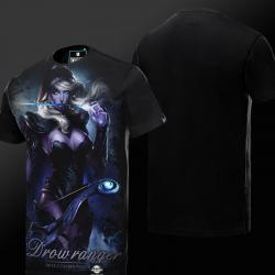 DOTA 2 Drow Ranger T-shirt Defense of the Ancients Hero Tee