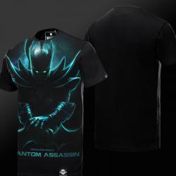 Begrenzte Editon DOTA 2 Phantom Assassin T-shirt Dunkel Effekt Tees